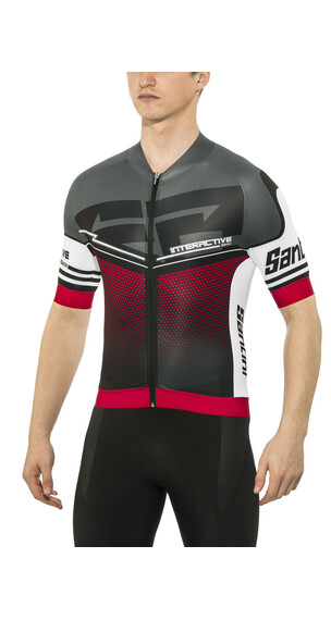 Santini Interactive 3.0 S/S Aero-Jersey Men red